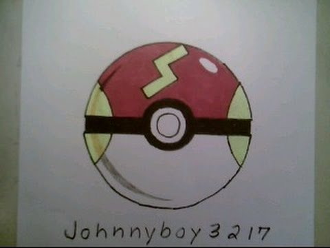 How to draw pokemon fast ball pokeball go 3d easy step by tutorial iphone game