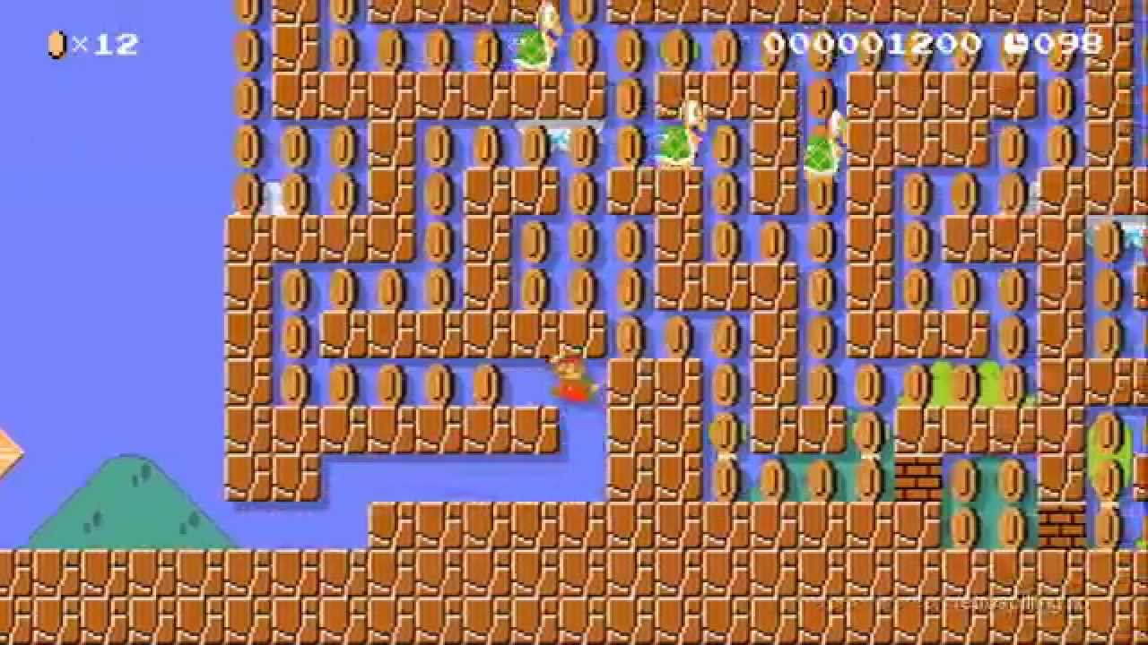 Super Mario Maker Quot Mini Maze Quot My First Level Youtube
