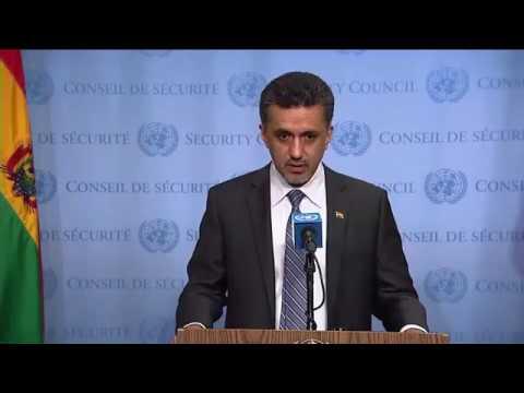 SC President, Sacha Sergio Llorentty Solíz (Bolivia) on Libya - SC Media Stakeout (7 June 2017)