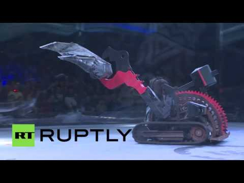 'Total Robo-carnage' Battle bots in Moscow