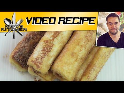 FRENCH TOAST ROLL UPS  Nickos Kitchen  YouTube