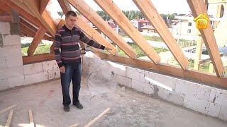 видео Перекрытия в доме из пеноблоков: особенности