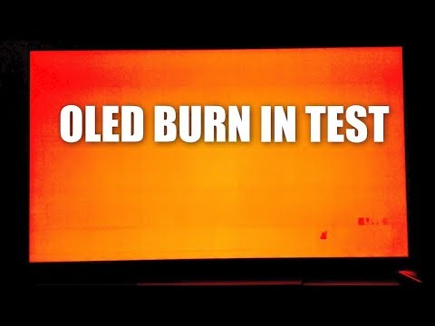 OLED TV Burn In Check - OLED Television Burn In Problems - OLED TV Burn In Test