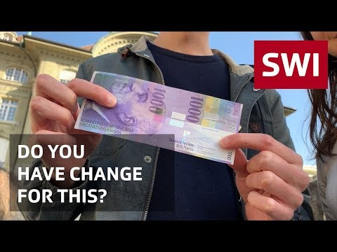 Going Shopping With The 1,000-franc Note