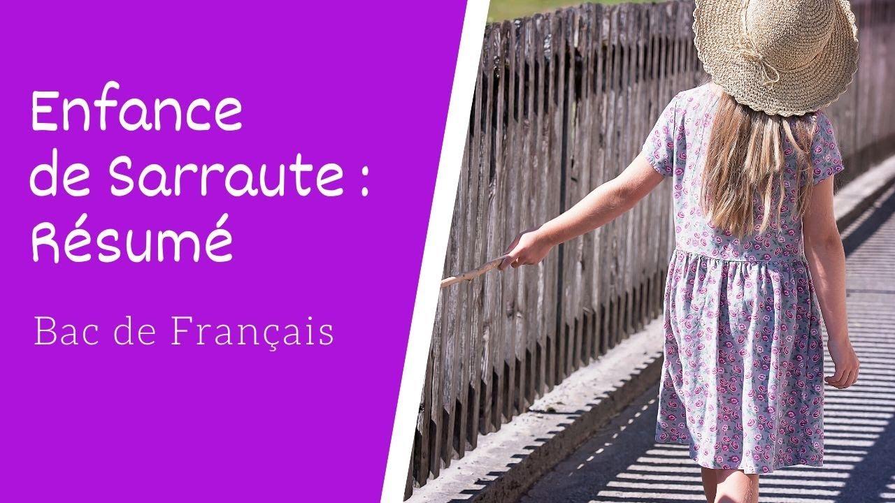 Resume De Enfance De Nathalie Sarraute Bac De Francais