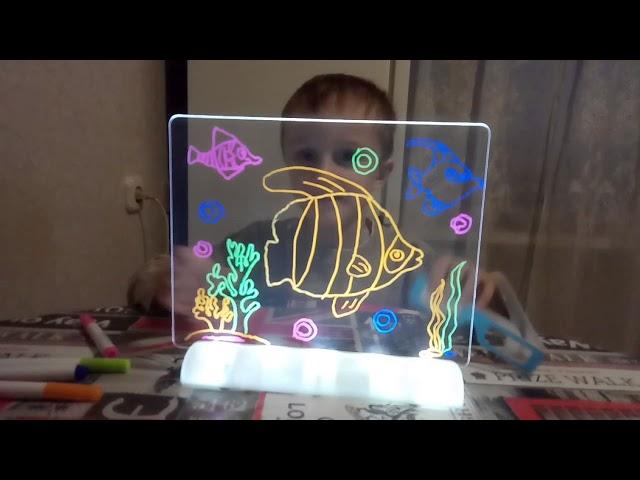 Magic 3D DrawingBoard Светящийся 3Д планшет для детей