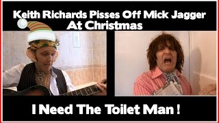 Keith Richards Plays Guitar On The Toilet At Christmas