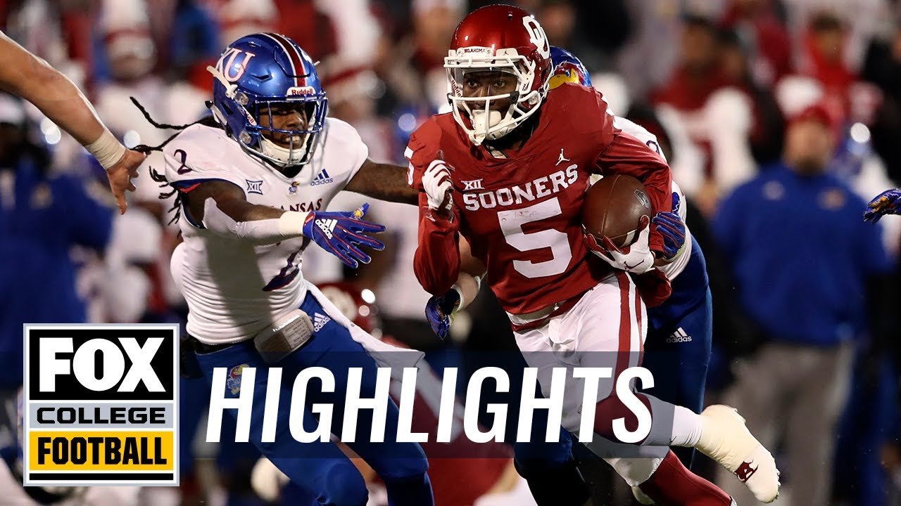 Kansas vs. Oklahoma | FOX COLLEGE FOOTBALL HIGHLIGHTS