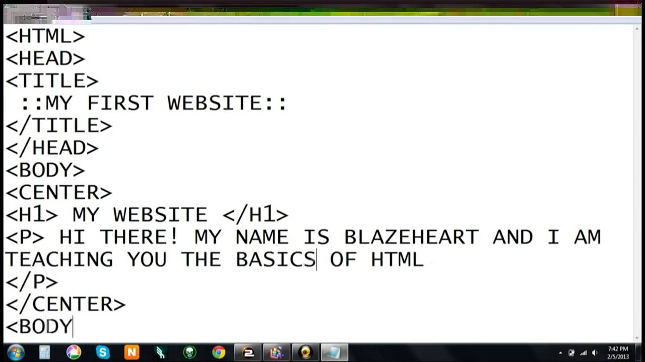 How to Create a Website Using HTML