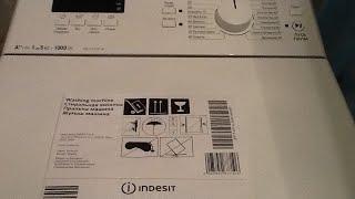 Обзор стиральной машинки с вертикальной загрузкой INDESIT ITW D 51052 W. Производство Словакия.