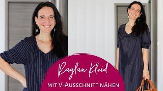 Lia als Kleid mit Bündchen / Manschette nähen (Schnittmuster Bluse)