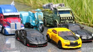 Transformers 5 TLK AUTOBOT Optimus Prime Bumblebee Hot Rod Drift Hound Sqweeks Vehcle Car Robot Toys