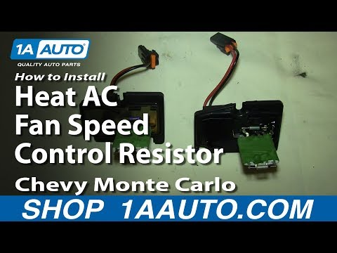 How To Replace Blower Motor Resistor 00 05 Chevy Monte Carlo