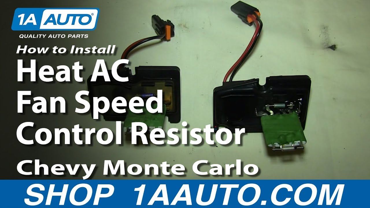 How To Install Replace Heat AC Fan Speed Control Resistor 200007 Chevy Monte Carlo  YouTube