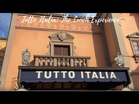 Tutto Italia Ristorante at Walt Disney World's EPCOT Italy Pavilion: The Lunch Experience and Review