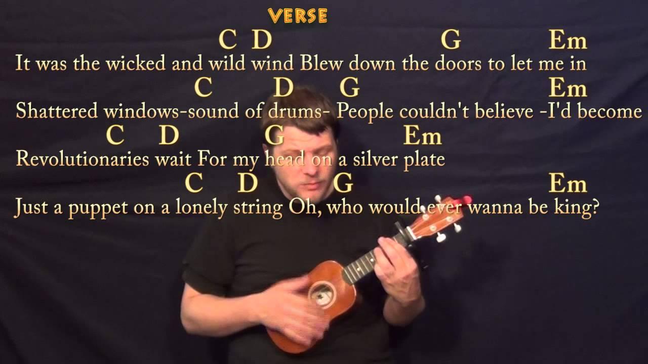 Viva La Vida (Coldplay) Soprano Ukulele Cover Lesson with Chords, Lyrics - YouTube