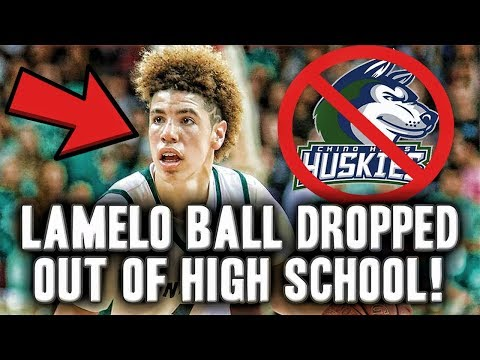 Lamelo Ball Drops Out Of Chino Hills High School! | Leaving High School To Train For The NBA