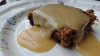 Blonde Brownie (with Maple Syrup Sauce)