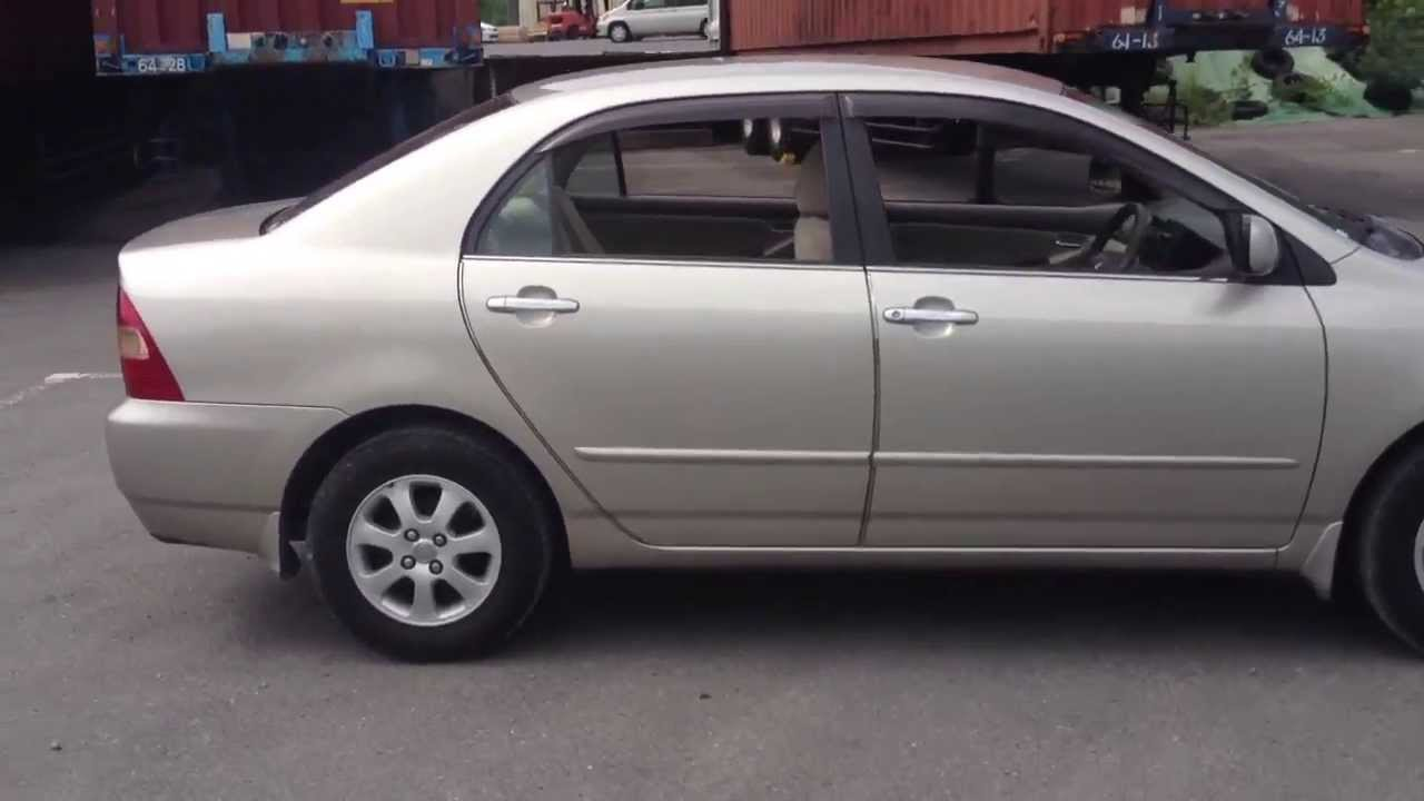 Stock No 2105 Toyota Corolla Luxel 2001 Youtube