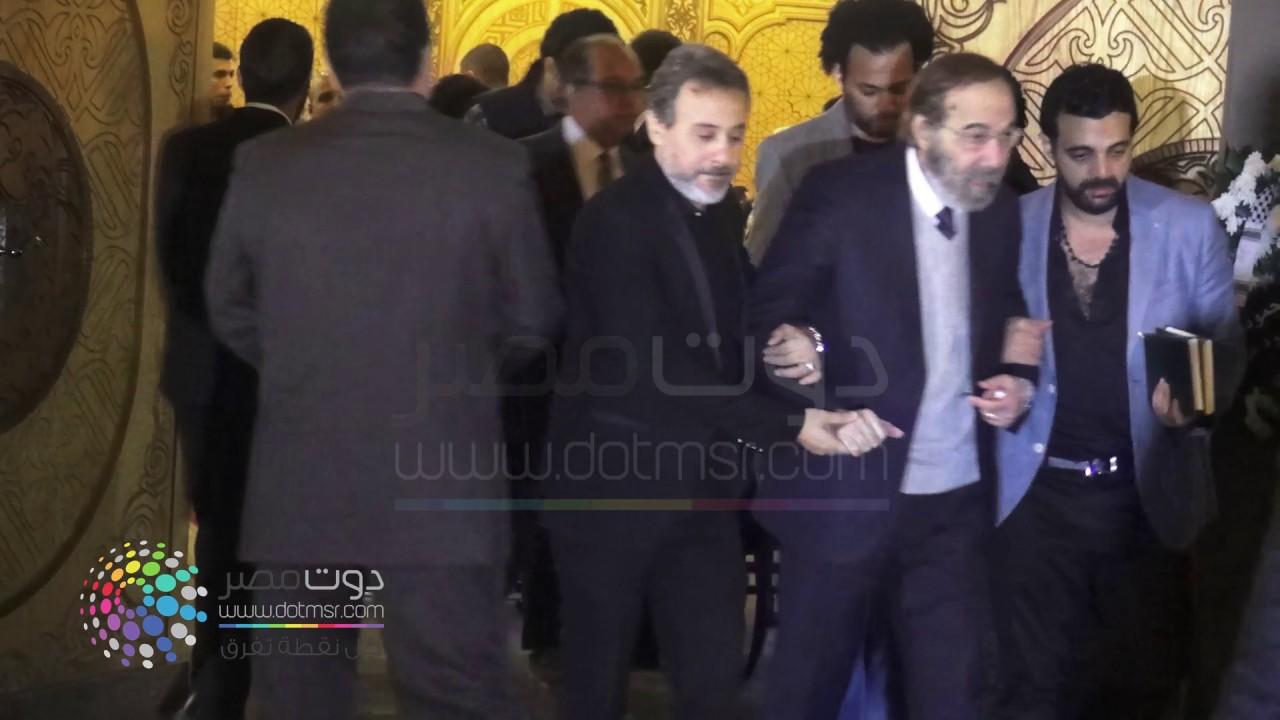 محمود ياسين في عزاء الفنان الراحل محمود عبد العزيز Youtube