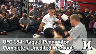 UFC 184: Raquel Pennington's Open Workout Before Facing Holly Holm (Complete/Unedited)