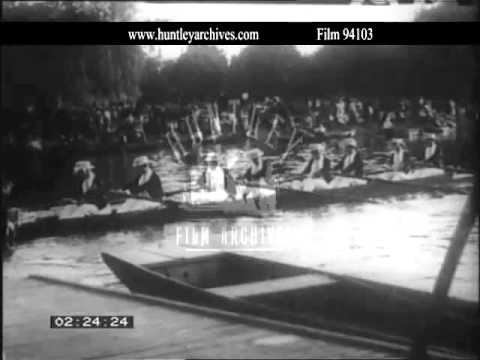 Eton boating.  Eton public school.  Archive film 94103