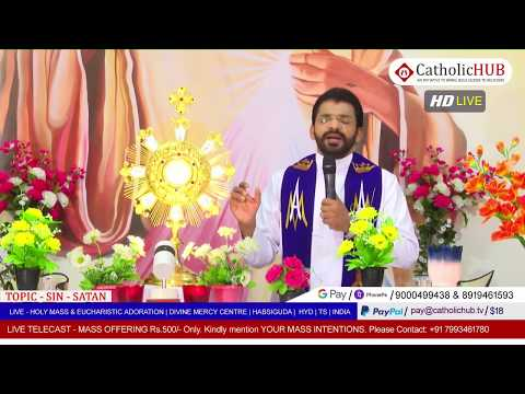 SUNDAY HOLY MASS | SIN & SATAN | REV.FR.BENNY SVD | DMC | HABSIGUDA | HYD | 10-05-2020