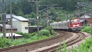 EF510 1+東京メトロ03系4B 甲種輸送 越後岩塚~塚山
