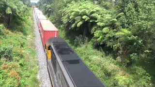 DL 9452 passing under Omokoroa Road with Train 397