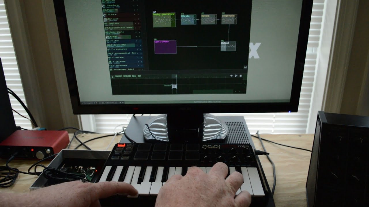 Simple Raspberry Pi 3 Synthesizer with SunVox, RT Kernel, and JACK