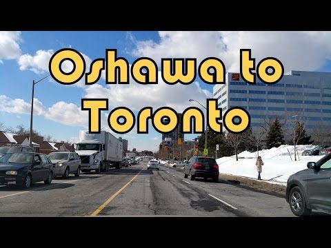 Driving on Highway 401 West from Courtice to Toronto (North York)