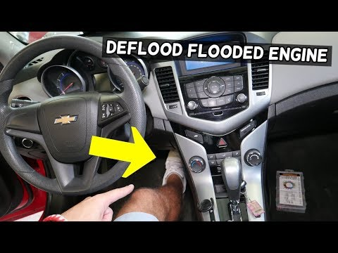 HOW TO FIX FLOODED ENGINE ON CHEVROLET CRUZE CHEVY SONIC, HOLDEN CRUZE