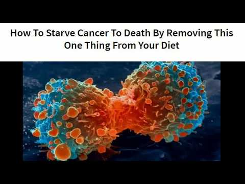How To Starve Cancer To Death By Removing This One Thing From Your Diet