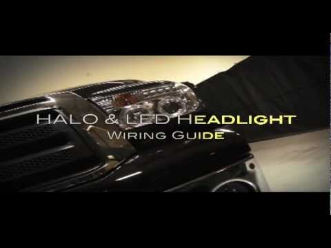 Spyder Auto Installation LED Halo Headlights Install Overview - YouTube