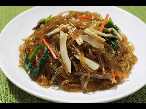 잡채  .Korean JapChae Recipe. Glass Noodle 반찬만들기 #11