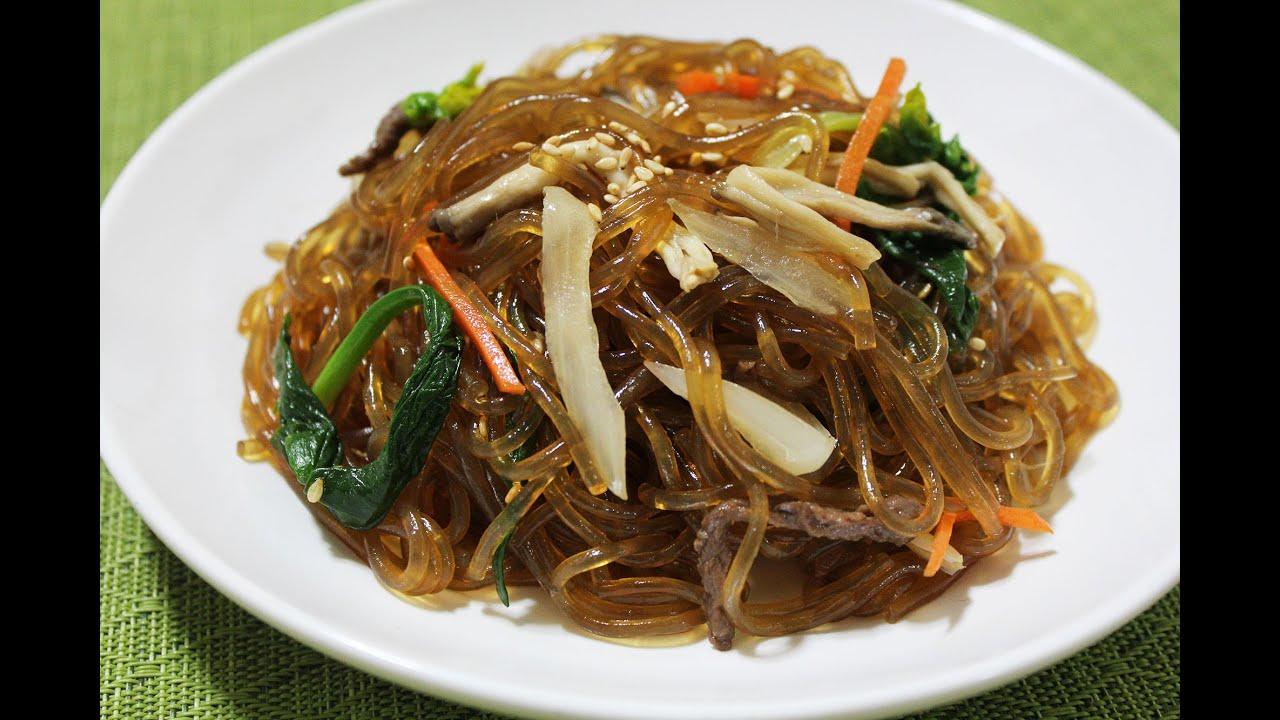 korean japchae recipe glass noodle 11 youtube. Black Bedroom Furniture Sets. Home Design Ideas