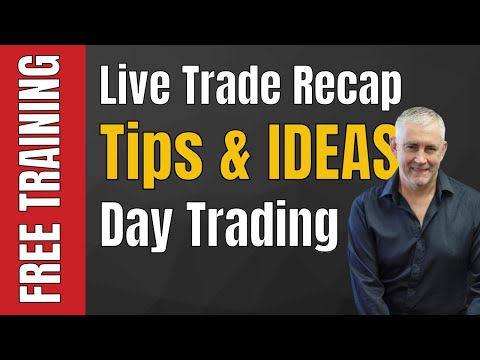 Day Trading: Live Trade Recap Tips and Ideas Video Newslette