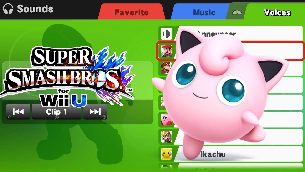 Jigglypuff Voice Clips Super Smash Bros Wii U Youtube