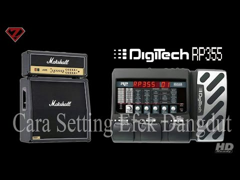 How to set effect Digitech RP355 for Dangdut music