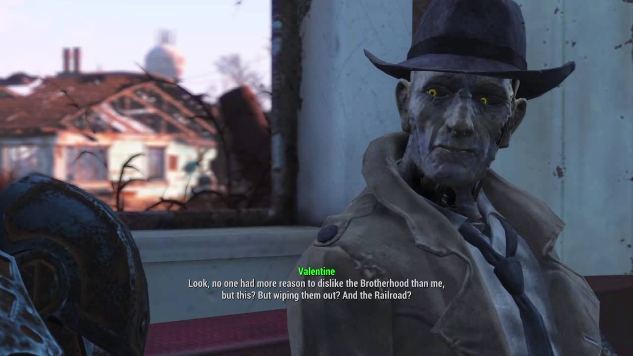 Fallout 4 Nick Valentine On Institute Ending YouTube