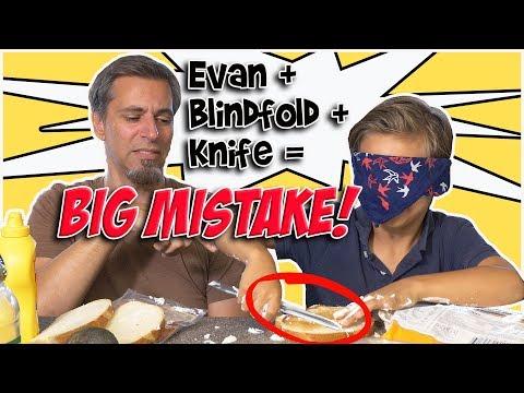 7 year old Blindfold Sandwich Challenge FAIL | Josh Darnit