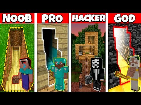 SECRET HOUSE CHALLENGE! - Noob Vs Pro Vs Hacker Vs God In Minecraft