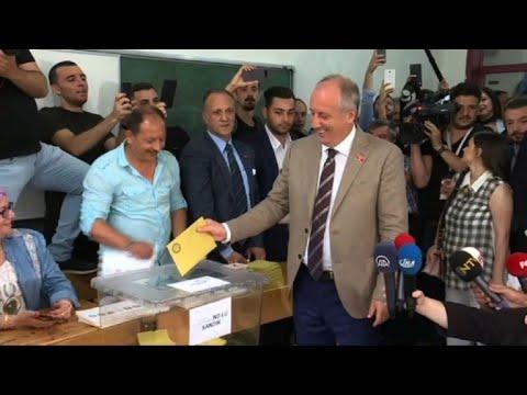 Turquie: le candidat de l'opposition Muharrem Ince vote à Yalova