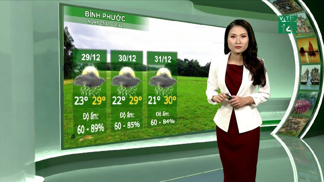 Thời tiết du lịch 28/12/2018: Bình Phước có mưa rải rác vào chiều tối và đêm   VTC14   Thông tin thời tiết hôm nay và ngày mai