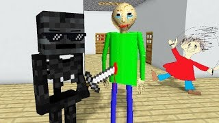 Monster School : BALDI'S BASICS HORROR CHALLENGE - Minecraft Animation