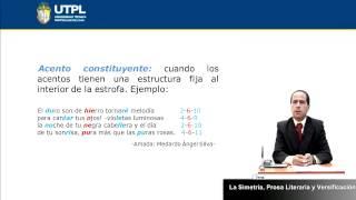UTPL LA SIMETRÍA, PROSA LITERARIA Y VERSIFICACIÓN  [(CCEE)(ESTÉTICA Y BELLEZA LITERARIAS)]