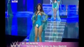 Miss Turkey Güzelleri Mayolu Geçiş Frikikvideolari.com