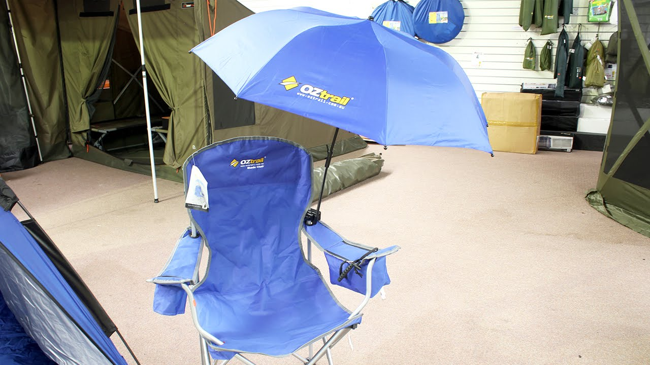 Chair With Umbrella Oztrail Action Chair Umbrella