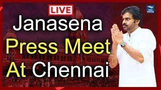 Janasena Press Meet LIVE from Chennai | Pawan Kalyan | New Waves