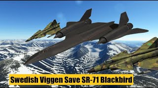 The day the Swedish Air Force Saab 37 Viggen saved the Lockheed SR-71 Blackbird